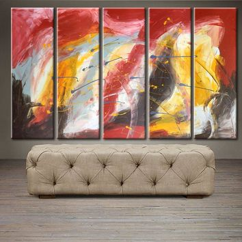 """'Stormy day' - 50"""" X 30"""" Original Abstract  Art. Free-shipping within USA & 30 day return Policy."""