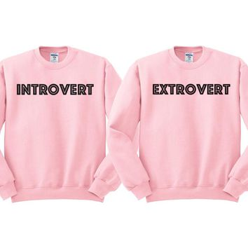 Best Friends Introvert Extrovert Duo Sweatshirt
