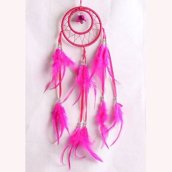 DCCKJ6E Ring Wind Bell Dream Catcher Feather Cars Home Decor [9613388431]