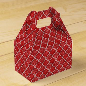 MQF-Sequins-Red-White-Gable Favor Box