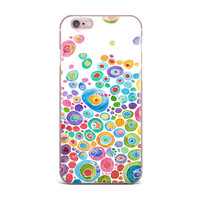 "Catherine Holcombe ""Inner Circle White"" iPhone Case"