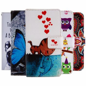 """GUCOON Cartoon Wallet Case for Micromax Bolt Supreme 2 Q301 4.0"""" Fashion PU Leather Lo"""