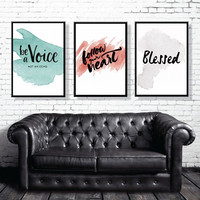 """PRINTBALE ART - Triple Poster """"Be a Voice not an echo"""" 