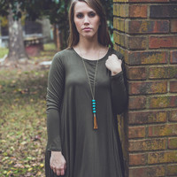 Solid and Steady Dress in Olive