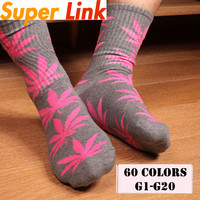 Plant calcetines hombre weed men winter socks masculinas Leaf Printed Skateboard Cotton Meia harajuku socks G1-G20