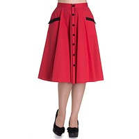 Retro Jitterbug Inspired Swing Dance Love Red polka dot Circle Skirt