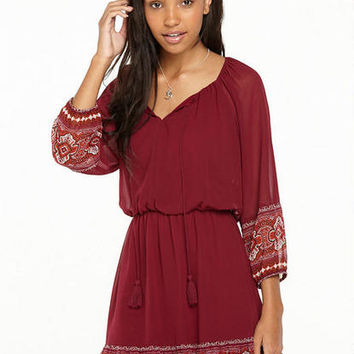 Sadie Chiffon Bohemian Dress