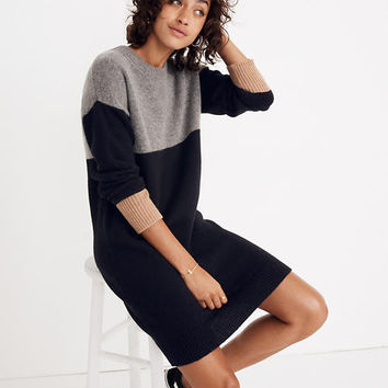 Colorblock Sweater-Dress