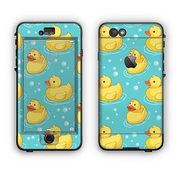 The Cute Rubber Duckees Apple iPhone 6 Plus LifeProof Nuud Case Skin Set