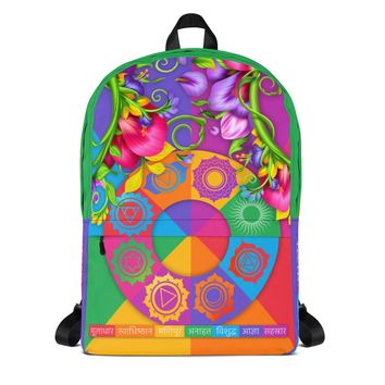 Chakra Symbols and Colors Backpack
