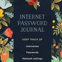 Internet Password Journal - Modern Floral Internet Password Journal