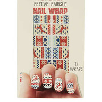 CHRISTMAS JUMPER NAIL WRAPS