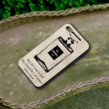 chanel case Inspired design Parfum Bottle No 5 Marilyn Monroe - Iphone 4/4s Iphone 5 and Samsung Galaxy S3/S4