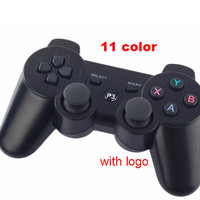 Wireless Bluetooth Controllers Joysticks For PS3 (11 colors) sixaxis Dualshock Brand logo Gamepad For ps3 games