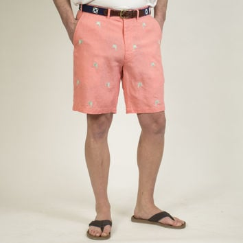 Lighthouse Linen Short Coral with Sailfish