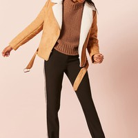 Faux Suede Moto Jacket - Women - New Arrivals - 2000225136 - Forever 21 Canada English