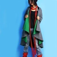 Green Sleeves 1 woolen cape (Y1010)