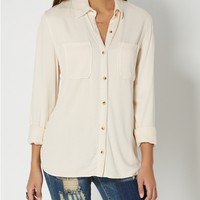 Cream Twill Button Down by Wild Blue x Sadie Robertson™
