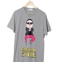 Psy gangnam style k-pop OFFICIAL GENUINE VERSION2 GRAY T-Shirt M,L,XL