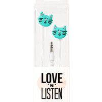 FOREVER 21 Cat Earbuds Mint/Green One