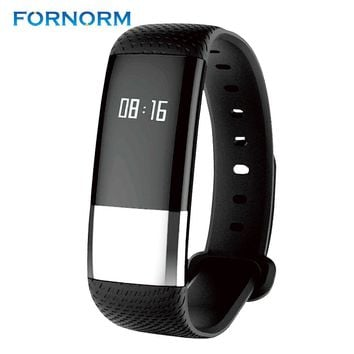 FORNORM Smart Bracelet Blood Pressure Heart Rate Monitor Wrist Watch Intelligent Bracelet Fitness Bracelet Tracker Pedometer