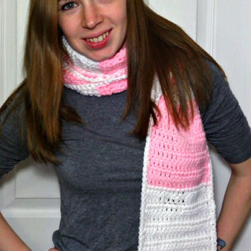 Crochet Striped Child Adult Hood Scarf Scoody Made To Order