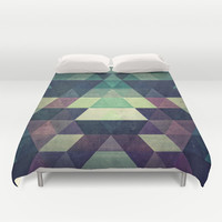 dysty_symmytry Duvet Cover by Spires