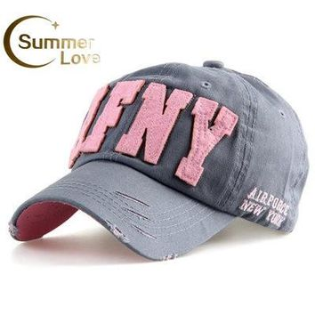 Fashion Cotton Snapback Baseball Cap Female Hats For Women Girls NYC and AFNY Casquette Sport Casual Headgear Adjustable Gorras