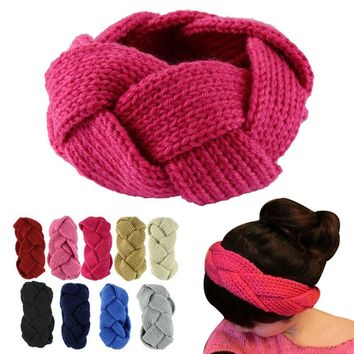 New Women Winter Fashion Crochet Twist Knitted Headband Ear Warmer