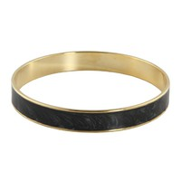 Laura Costagliola Enamel Bangle Bracelet - Charcoal