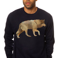 The Wolf Art Crewneck Sweatshirt in Navy