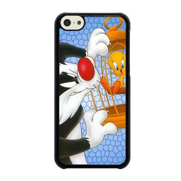 sylvester and tweety looney tunes iphone 5c case cover  number 1