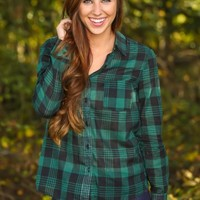 The Only Way I Know Plaid Blouse-Hunter
