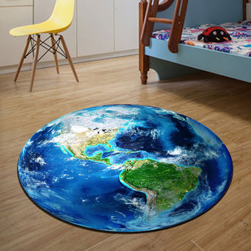 Earth Round rugs  Living room doormat Bedroom Carpets Door Floor Mat For House