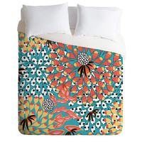 Juliana Curi Flower Dots 1 Duvet Cover