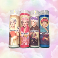 GIRLS OF GOLD ((prayer candle set))