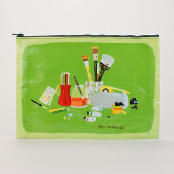 Raw Materials Jumbo Pouch in Lime