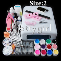 2015 New 12 Color UV Gel Nail Art Tools Sets Kits nail gel nails & tools nail polish kit = 5658864321