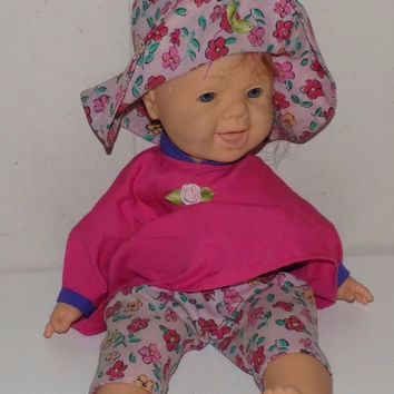 """Famosa Winking Doll 15"""" Soft Body Doll Baby Red Hair"""