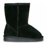 Girls' Cow Suede Boots - Black