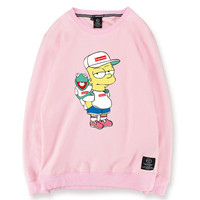 Oversized Bart Simpson x Kermit the Frog Sweatshirt