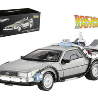 Delorean DMC-12 Back To The Future Time Machine With Mr. Fusion 1-43 Diecast Model Car by Hotwheels