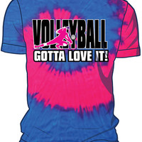 Midwest Volleyball Warehouse - TieDye Pink/Blue Gotta Love T-Shirt