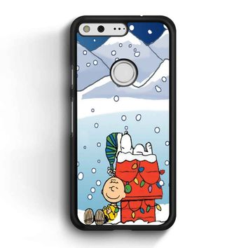 Charlie And Snoopy Brown Christmas Google Pixel Case