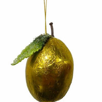 Christmas Ornament - Foiled Gold Lemon