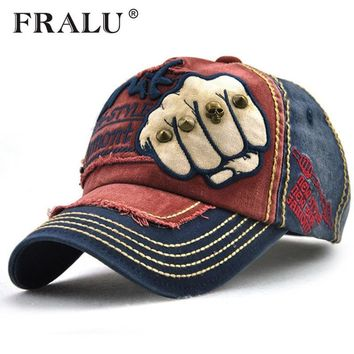 Trendy Winter Jacket FRALU New unisex fashion men's Baseball Cap women snapback hat Cotton Casual caps Summer fall Hat for men cap  AT_92_12