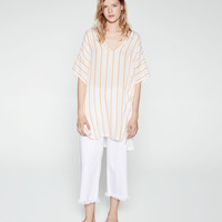STRIPE TUNIC WITH SHIMMER THREAD