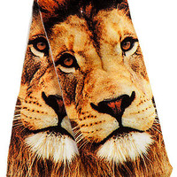 The King of the Jungle Ankle Socks in White
