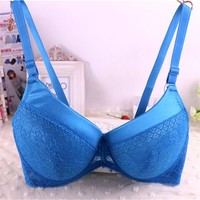 5221# brand new 40/90 42/95 44/100 D DD cup large size bra,back closure women underwear bras,bow push up sexy lingerie brassiere