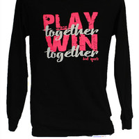 Play Together Win Together Volleyball Long Sleeve T-Shirt